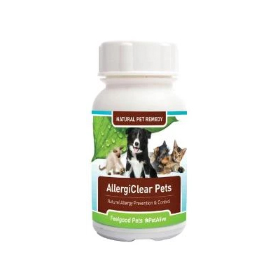 Feelgood Pets AllergiClear Pets – Naturally Prevents Allergies in Dogs & Cats
