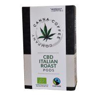 Canna Coffee Organic Coffee Capsules Infused with CBD   10 pods   Italian Roast