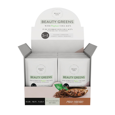 Beauty Gen Greens Raw Cacao 20 X 15g pouches