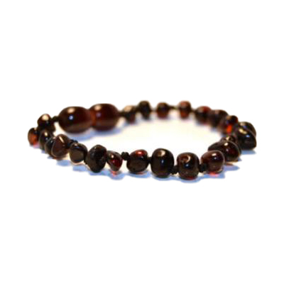 Baltic Amber Teething Ankle Bracelet – Cherry Chakra
