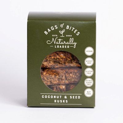 Bags of Bites Naturally Loaded Coconut & Seed Rusks 380g