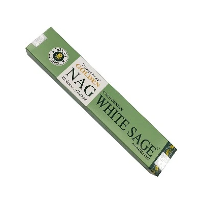 Indilove –  Vijayshree Golden Nag Californian White Sage Incense
