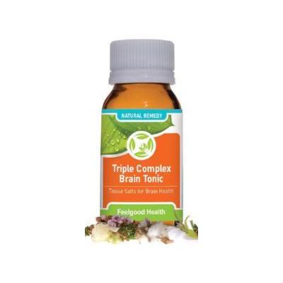 Feelgood Health Triple Complex Brain Tonic – Tissue Salts for Better Brain Health & Balance