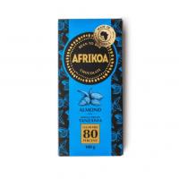 Afrikoa 80% Sugar Free Dark Chocolate with Almonds 100g bar
