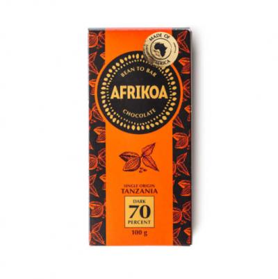 Afrikoa 70% Dark Chocolate 100g bar