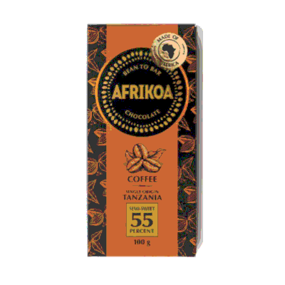 Afrikoa 55% Dark Chocolate with Coffee 100g bar