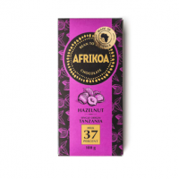 afrikoa 37% milk chocolate with hazelnuts