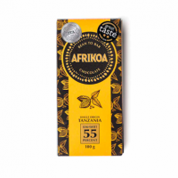 afrikoa 55% semi sweet dark chocolate