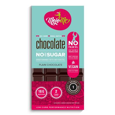MojoMe Sugar Free Chocolate – Plain 80g (86% Cacao)