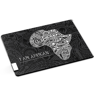 Andy Cartwright I am African – Glass Serving Board