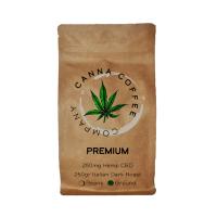 Canna Coffee Premium Ground Coffee Infused with CBD | 250gr | Italian Roast