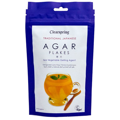 Clearspring Japanese Agar Flakes – Gelling Agent