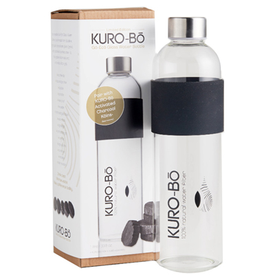 KURO-Bō Go-Eco Glass Water Bottle 1L