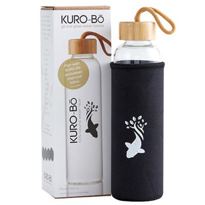 KURO-Bō Go-Eco Glass Water Bottle 550ml