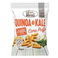 Eat Real Quinoa & Kale Corn Puffs Jalapeno & Cheddar 40g