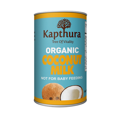 Kapthura Coconut Milk 17% Fat Organic 400ml