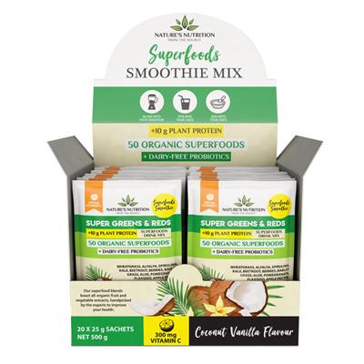 Nature's Nutrition Coconut Vanilla 20 x 25g