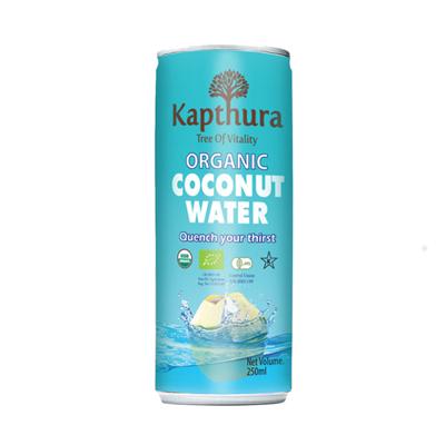 Kapthura Coconut Water Organic Can 250ml x 24