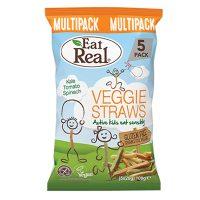 Eat Real Kids Veggie Straws Multipack 100g x 8