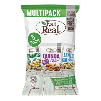 Eat Real Multi Flavour Pack 116g x 8