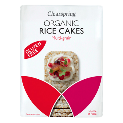 Clearspring Organic Rice Cakes Multi-Grains 130g