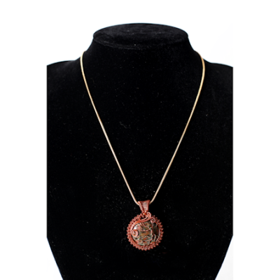 Cypher Crafts | Necklace with Water Opal Stone – Tree of Life Pendant