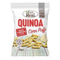 Eat Real Quinoa Corn Puffs White Cheddar 40g x 12