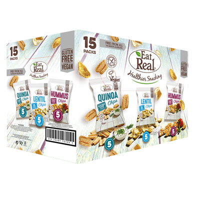 Eat Real Selection QSC x 5 (30g) LSS x 5 (40g) HTB x 5 (45g)