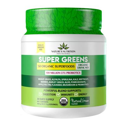 Nature's Nutrition Super Greens Natural Green 360g