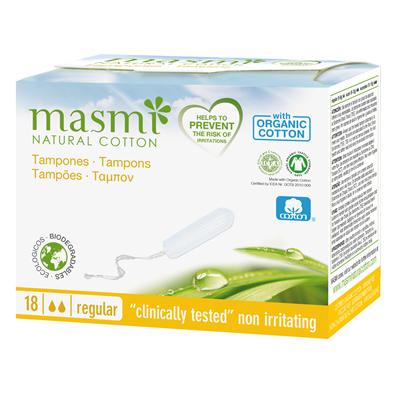 MASMI Organic Cotton Tampons Regular 18s