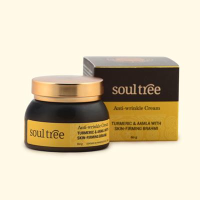 Soul Tree Anti Wrinkle Cream – Turmeric & Aamla With Skin Firming Brahmi 60g