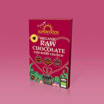Soaring Free Raw Chocolate Goji Crunch Bar 50g