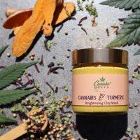 Cannabis Queen   Turmeric & Cannabis / Brightening Clay Mask 100ml