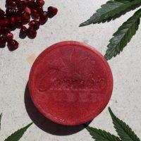 Cannabis Queen   Pomegranate & Cannabis Soap 130g