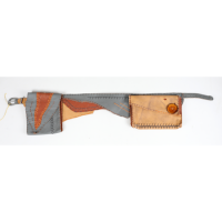 Cypher Crafts | Yellow and Grey Leather Kids Belt Pocket