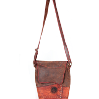 Cypher Crafts | Brown Leather Bag | Lazer Cut Detail