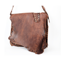 Cypher Crafts | Brown Leather Bag | Rivets