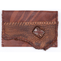 Cypher Crafts | Smoke Pouch – Brown Leather with Button Closure