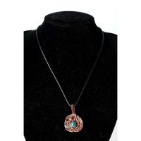 Cypher Crafts | Necklace with Green Agate Tiger's eye and copper wire detail