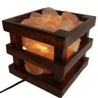 Saltpur    Himalayan Salt Wooden Box Lamp   Standard