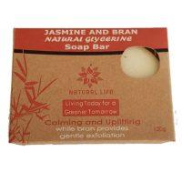 Natural Life   Natural Soap Bar Jasmine and Bran (Large) 120g