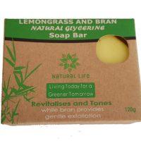 Natural Life | Natural Soap Bar Lemongrass and Bran (Large) 120g