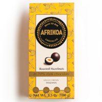 Afrikoa Roasted Hazelnuts in 70% Dark Chocolate