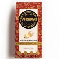 Afrikoa Roasted Macadamias in Rooibos White Chocolate