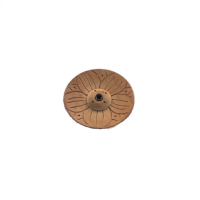 Snow Lion | Round Wooden Incense Holder