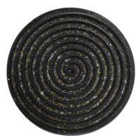 African Goddess   Black Tourmaline & Glitter Coaster