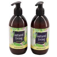 Natural Living | Milk & Honey Natural Shampoo & Conditioner Combo 2 X 300ml