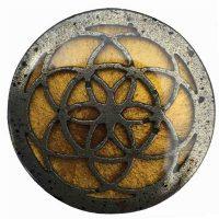 African Goddess   Seed Of Life Orgonite & Amber Gold Resin