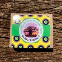 Hazel's Harvest | Baobab, Lemon & Rosemary Natural Vegetable Soap (120g bar)